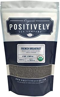 Positively Tea Company, Organic French Breakfast, Black Tea, Loose Leaf, USDA Organic, 1 Pound Bag