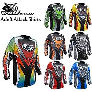 WULFSPORT ADULT ATTACK SHIRTS NEW 2017 Motorbike Motocross Quad Enduro MTB Off Road ATV MX Pit Sport Jersey Shirt (Orange, XL)