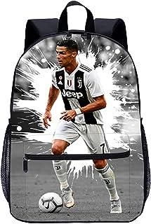 Personnalisé Ronaldo Football Garçons Sac D/'école Sac à Dos Enfants Sports CR7 CR01