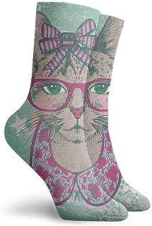 Yesbnow, Cat Patterned Socks Hiking Walking Socks Multicolor Short Socks Athletic Socks Calcetines cortos calcetines deportivos