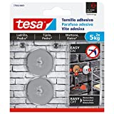 tesa 77906-00001-00 Tornillo Adhesivo Redondo para Ladrillo Y Piedra 5 Kg, Set de 2 Piezas