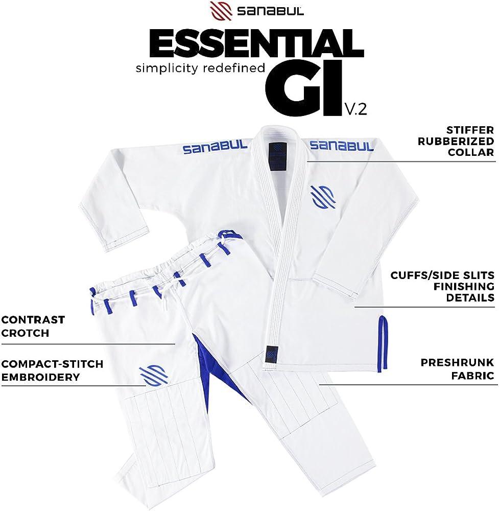 See Special Sizing Guide Sanabul Essentials V.2 Ultra Light Preshrunk BJJ Jiu Jitsu Gi