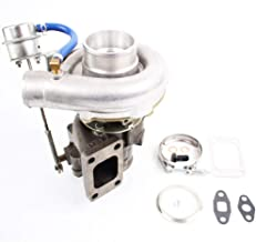 T3/T4 T04E Turbo Turbocharger 4 Bolt V-BAND A/R .63 with Internal Wastegate for All 2.0-3.5L Engines Up to 420HP Universal Turbo Charger & Gaskets Oil Cooled