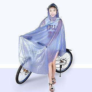 XGYUII Chubasquero Impermeable para Motociclismo con Doble ala y Mangas Capa Masculina y Femenina con Tira Reflectante Montura Segura para Montar en Bicicleta