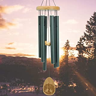 In Memory Of Wind Chimes Outdoor Large Deep Tone, 30 Inch Memorial Windchime For Outside Unique Engrave Lifetree,Sympathy ...