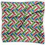 Uridy Sciarpa quadrata in raso Bandiera della Guinea Equatoriale Tessuto in seta come bandane leggere Testa avvolgente collo scialle Foulard