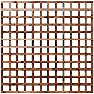 Weatherwell Square Garden Trellis Pressure Treated Timber Garden 6ft (6ft x 1ft)