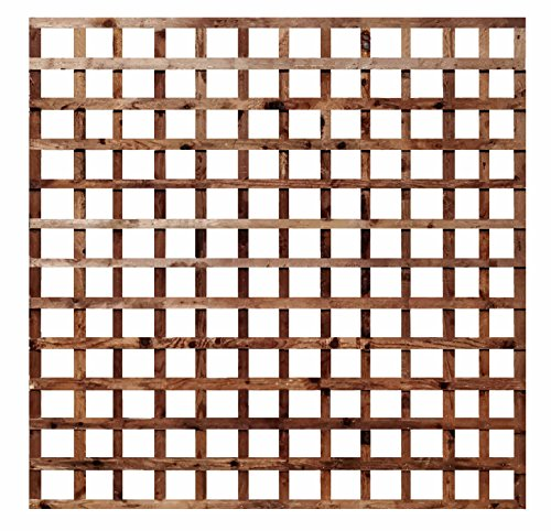 weatherwell ltd Square Garden Trellis Panels Pressure Treated Timber Garden Brown Wooden Trellis 6ft (6ft x 6ft)