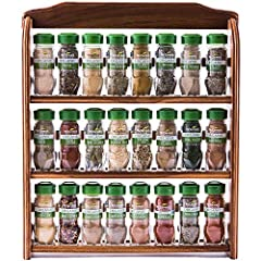 McCormick Spice Rack Organizer displays organic assortment of 24 best-selling herbs, spices and blends Save money by purchasing a spice rack with spices included versus buying individual spices Three-tiered spice rack serves as either a wall mounted ...
