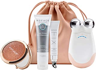 NuFACE Advanced Facial Toning Kit, Shimmer All Night Collection, Trinity Facial Trainer Device & Microcurrent Skincare Regimen, Skin Care Device to Lift Contour Tone Skin & Reduce Look of Wrinkles