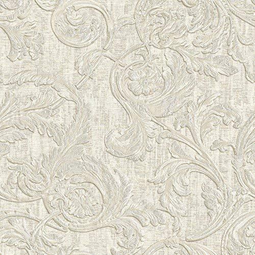 """Muriva 2050510.05m""""style italien Kastra défilement Luxe épais à coller au mur papier peint""""-Marron-P, blanc, 20502, 0 voltsV"""