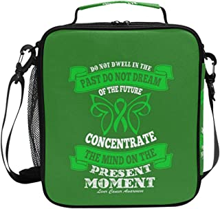 Lunch Bag with Liver Cancer Awareness Quote Print, Insulated Lunch Box for School Picnic