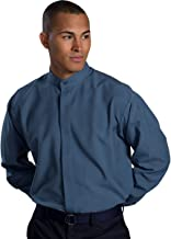 Edwards Garment Men's Long Sleeve Banded Collar Comfort Pocket Shirt
