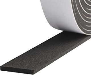 Foam Strips with Adhesive, High Density Soundproofing Window Insulation Foam Gasket Tape Weather Strip 1 Inch Wide X 1/8 Inch Thick X 33 Feet Long(16.5ft x 2 Rolls )