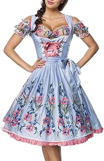 Dirndline 3 TLG. Midi Dirndl Set Tracht Trachtenkleid Kleid Wiesn Oktoberfest Bluse 36-46