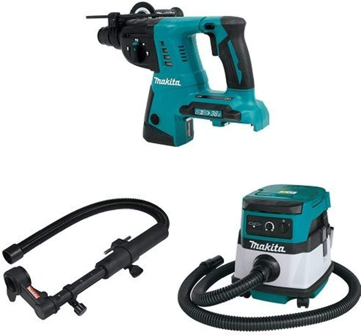 Makita Oklahoma City Mall XRH05Z Max 46% OFF 18V X2 LXT 36V Hammer Tool 1-Inch Only Rotary