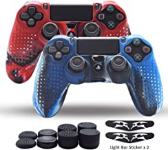PS4 Controller Skin,Silicone Grips for PlayStation 4 PS4/Slim/Pro Controller Pack 2 Anti Slip Cover Case Protector for Dua...