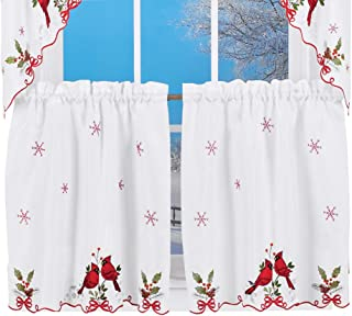 Best christmas tier curtains Reviews
