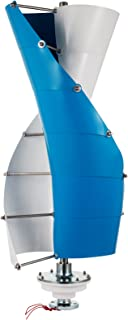 LOVSHARE 300W DC 12V Wind Turbine Generator Kit 10PCS Blades Vertical Wind Power Turbine Generator with Charge Controller for Power Supplementation (300W 12V)