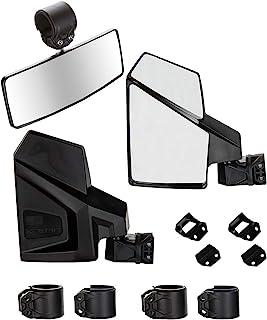Kolpin 98312 Black UTV Side Rear Mirror Combo Package