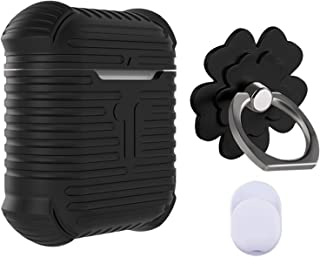 Phone Ring Stand Holder, AirPods Case, Silicone Shockproof Case Cover Skin for Apple AirPods, Finger Grip Stand for iPhone/Samsung/Galaxy/Phone Case