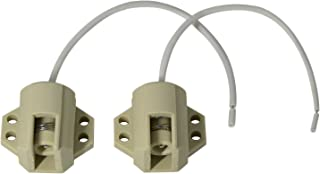 Fankerba - Fankerba - 2PCs Ceramic R7S Lamp Socket,Off-White Lamp Holder Base AC 110-250V,75-1000W for Single-Ended of Metal Halide Lamp Head