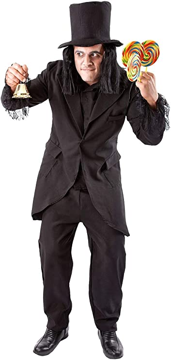 Victorian Men's Costumes: Mad Hatter, Rhet Butler, Willy Wonka Orion Costumes Mens Child Catcher Movie Book Outfit Halloween Fancy Dress Costume Black  AT vintagedancer.com