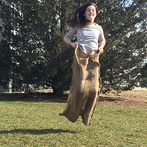 All Natural Reusable Jute Burlap Sacks 24' x 40' | Potato Sack Race Bags for Kids & Adults | Perfect Birthday Party Game | Eco-Friendly Biogradeable Food Storage | Shrub & Plant Frost Protection