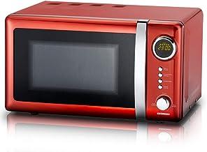 MELISSA 16330109 Microondas, Acero Inoxidable, rojo metalizado