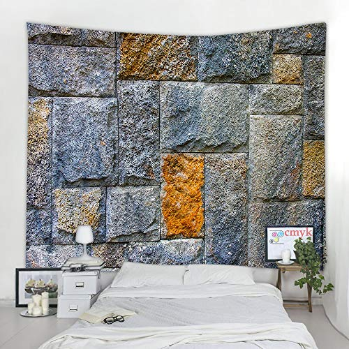 KHKJ Tapiz de Pared de ladrillo Colgante Mandala Bohemio psicodélico Hippie Tapiz decoración del hogar Toalla Tapiz A4 150x130 cm