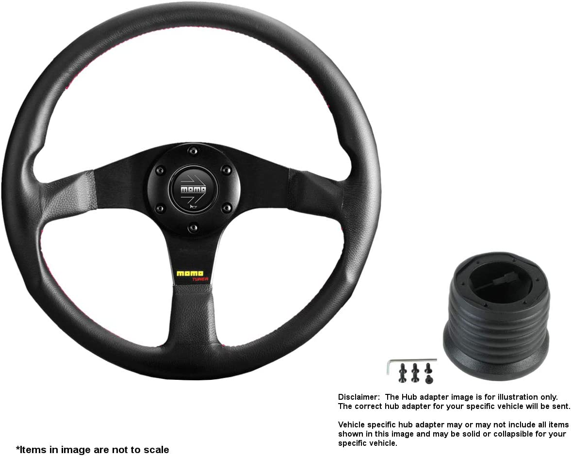 MOMO Tuner Black Max 62% OFF Courier shipping free shipping 320mm 12.6 Inches Steering Wheel Br w Leather