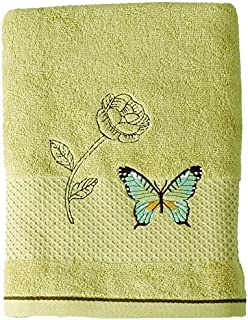 Saturday Knight Butterfly Bliss Bath Towel, Sage