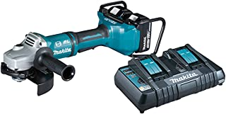Makita DGA700PT2 Twin 18V (36V) Li-Ion LXT Brushlesss 180mm Angle Grinder Complete with 2 x 5.0 Ah Li-Ion Batteries And Ch...