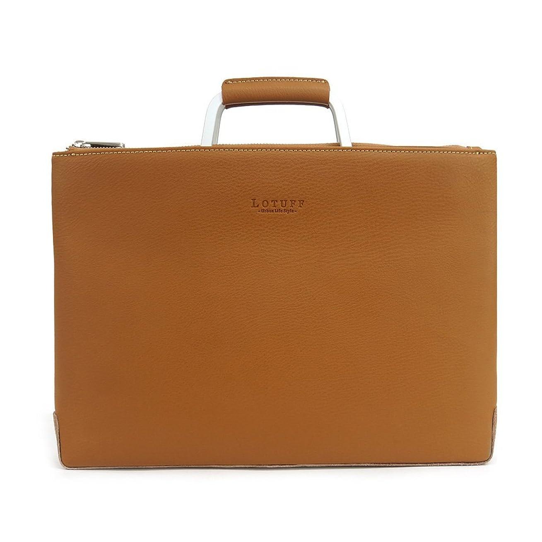 で出来ているトチの実の木レンディションLOTUFF(ロトプ) レザー 6 Color ブリーフケースクラッチバッグ デイパック LO-1218 メンズ レディース Leather Briefcase Clutch Cross 3way Bag [並行輸入品]