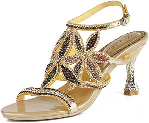 Xie Mode Strass Femmes Chaussures Summer New Bow Or Poisson Bouche Lady FFaibleer Couleur Diamant Sandales