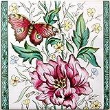 Free UK Delivery Rainbow Decors Ltd Rosalie Rose Rosa casa con Numero civico in Ceramica Fiori Porta Qualsiasi Numero Disponibile Decorato a Mano nel Regno Unito