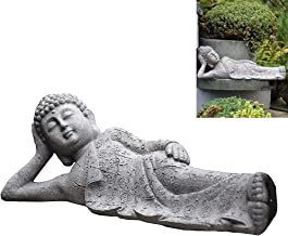 Sitting/Reclining Buddha Statue, Resin Buddha Statue Zen Crafts Ornaments, Simulation Micro Landscape Decoration for Court...