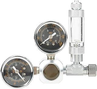 CO2水槽レギュレータ CO2 レギュレータ圧力計 水族館 CO2レギュレーター 微調整 スピードコントローラー 大型デュアルディスプレイ 水草水槽用(#2)