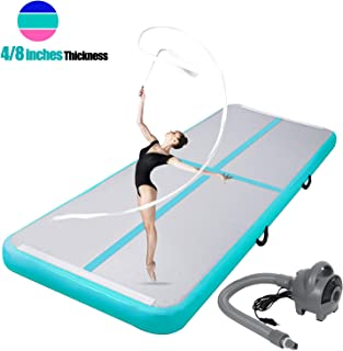 ChampionPlus 10ft 13ft 16ft 20ft Air Track Tumbling Mat Inflatable Gymnastics Mat 4/8 inches Thickness Airtrack Tumbling Mats for Home Training Cheerleading Yoga with Electric Air Pump