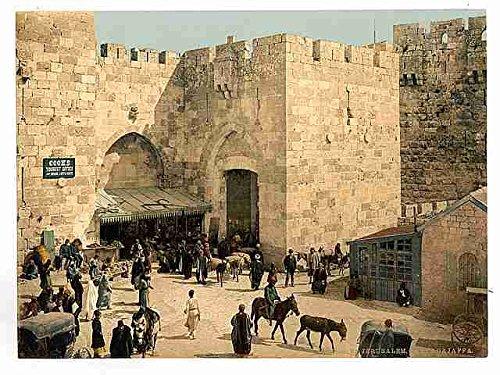 Metall Schild Die Jaffa Tor Jerusalem A412x 8Alu Print