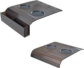 Esteira Bandeja Flexivel c/ Porta Copos 4mm - Tabaco