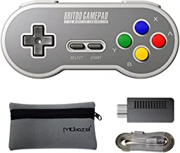 Mcbazel SF30 2.4G Wireless Controller Gamepad with Retro Wireless Receiver Adapter for SNES/SFC Classic Edition with Mcbaz...