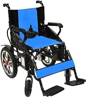 Horizon Mobility Folding Lightweight Electric Wheelchair, Multi Terrain Easy Travel (Blue)