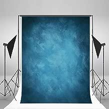Laeacco Design 5x7ft Vinyl Photography Backdrops Solid Color Blurry Blue Personal Portraits Photo Background,1.5x2.2m Studio Props