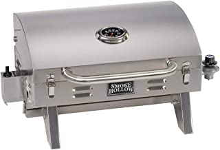 Smoke Hollow 205 Stainless Steel TableTop Propane Gas Grill, Perfect for tailgating,camping or any outdoor event (Renewed)