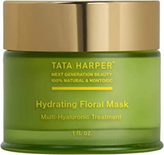 Tata Harper Hydrating Floral Mask   100% Natural & Nontoxic   Multi-Hyaluronic Treatment   30ml