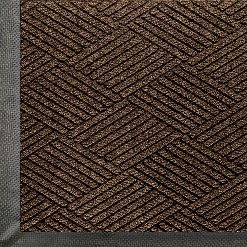 WaterHog Eco Premier | Commercial-Grade Entrance Mat with Diamond Pattern & Rubber Border | Indoor/Outdoor, Quick-Drying, Stain Resistant Door Mat (Chestnut, 3x5)