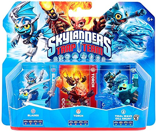 Skylanders Trap Team - Triple Pack - Blades, Tidal Wave Gill Grunt, Torch