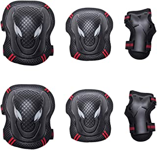 CLISPEED 6 peças joelheiras, cotoveleiras, conjunto de proteção para skate, ciclismo, patinação, esporte, proteção para cr...