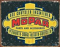 Mopar Logo '37-'47ティンサイン